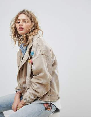 Maison Scotch Oversized Army Jacket With Safari Pockets