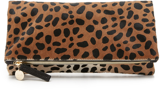 Clare V. Supreme Haircalf Fold Over Clutch $275 thestylecure.com