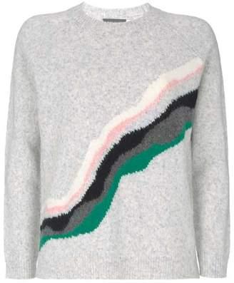 Mint Velvet Silver Grey Wave Stripe Knit