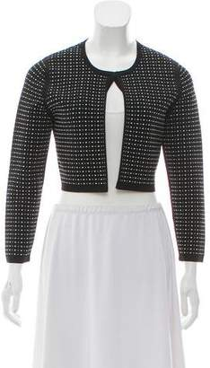 Narciso Rodriguez Textured Cropped Cardigan