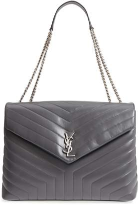 436a1383cae46 Saint Laurent Large Loulou Matelasse Leather Shoulder Bag