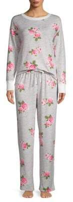 Betsey Johnson Two-Piece Floral Pajama Set