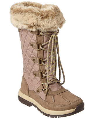 BearPaw Women's Quinevere Waterproof Suede-Trim Boot
