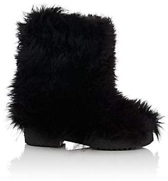Saint Laurent Women's Booly Lambswool Ankle Boots - Black