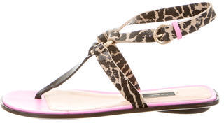 Paul Smith Multistrap Printed Sandals $110 thestylecure.com