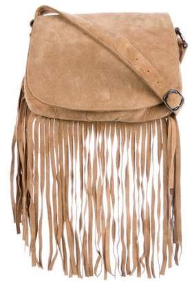 ThePerfext Fringe Suede Crossbody Bag