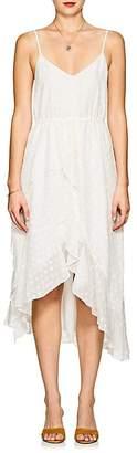 FiveSeventyFive Women's Dots Cotton-Blend Voile Midi-Dress