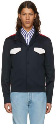 Valentino Navy Contrast Pocket Jacket