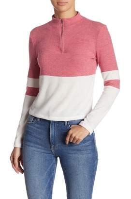 GOOD LUCK GEM Colorblock Stripe 1/4 Pullover