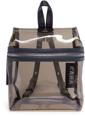 Kara Leather strap PVC small backpack