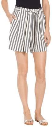 St. John Stretch Linen Stripe Twill Short
