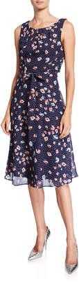 Chetta B Floral Fit-&-Flare Dress