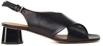 Robert Clergerie Laora Metal-heel Leather Sandals