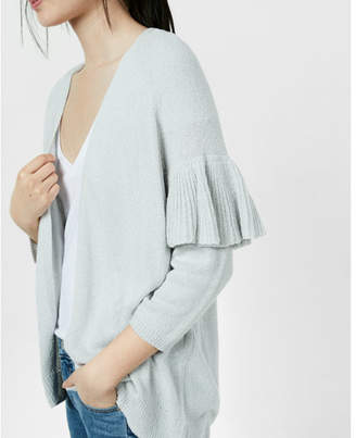 Express Ruffle Sleeve Cover-up $59.90 thestylecure.com