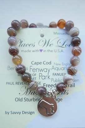 Savvy Designs Massachusetts Charm Bracelet(brown)