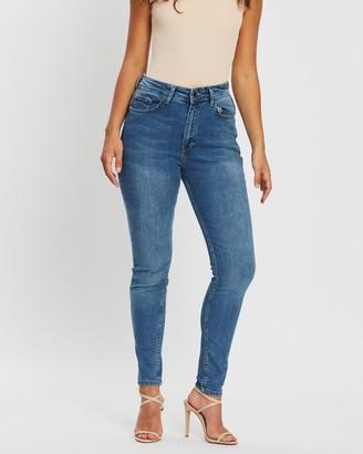 boohoo Butt-Shaper Mid-Rise Skinny Jeans