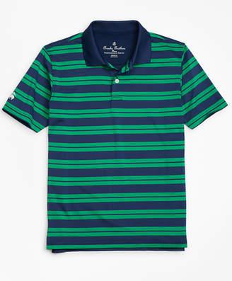 Brooks Brothers Boys Performance Track Stripe Polo Shirt