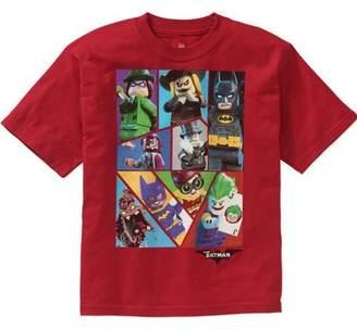 Lego Batman Boys' Batman Movie Red Group Graphic Tee