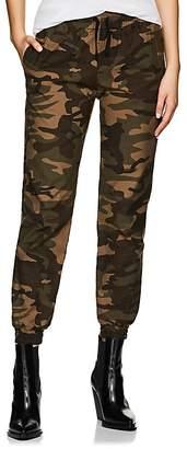 VIS A VIS Women's Camouflage Stretch-Cotton Jogger Pants