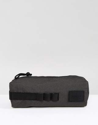 Asos (エイソス) - ASOS Pencil Case With Grid Print In Black