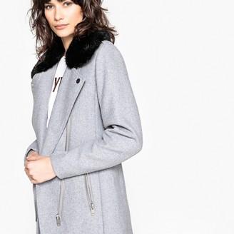 La Redoute Collections Wool Blend Biker Coat