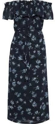 Current/Elliott The Ruffle Off-The-Shoulder Floral-Print Cotton-Voile Midi Dress