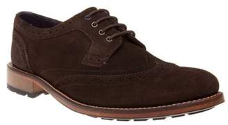 Ted Baker New Mens Brown Casuede Suede Shoes Brogue Lace Up