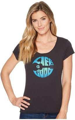 Life is Good Groovy Guitar Smooth Scoop Tee Women's T Shirt