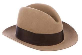 Borsalino Feather-Accented Fedora Hat