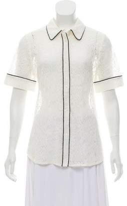 Essentiel Antwerp Lace Short Sleeve Top w/ Tags