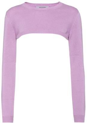 Valentino Cropped cashmere sweater