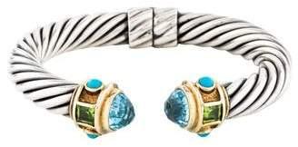 David Yurman Topaz, Turquoise & Peridot Renaissance Bracelet