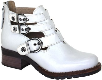 Dromedaris Leather Buckle Ankle Boots - Kelsy