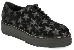White Mountain Summit By Belinda SI0289 Starry Leather Platform Oxfords
