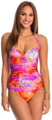 Gottex Clemence Molded Draped Bra Cup One Piece Swimsuit 48880 $97.90 thestylecure.com