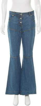 John Galliano Mid-Rise Bootcut Jeans
