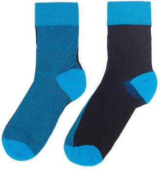 Happy Socks 'Flippa' colourblock ankle socks