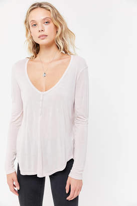 Truly Madly Deeply Snap Button Henley Top