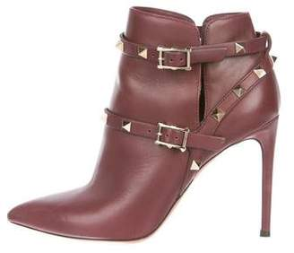 Valentino Leather Rockstud Booties