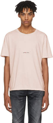 Saint Laurent Pink Rive Gauche T-Shirt