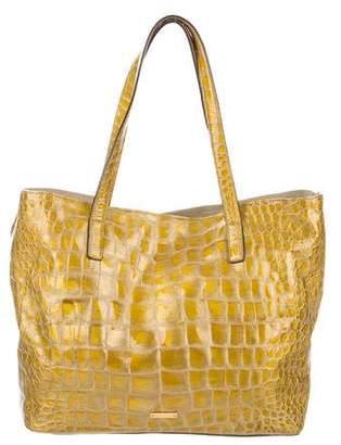 Max Mara Embossed Patent Leather Tote