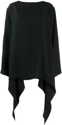 Alberta Ferretti curved oversized top
