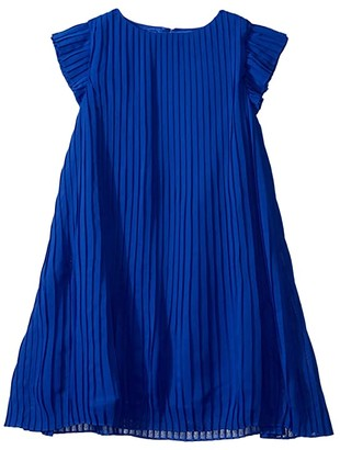 BCBGMAXAZRIA Girls Pleated Chiffon Dress (Big Kids)
