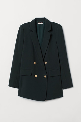 H&M Double-breasted Jacket - Green