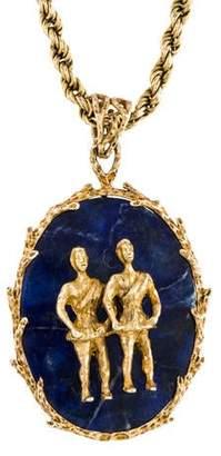 14K Sodalite Pendant Necklace
