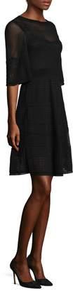M Missoni Sheer Elbow-Sleeve Sheath Dress
