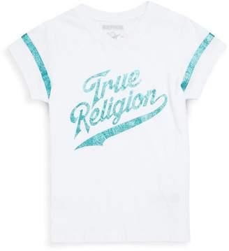 True Religion Girl's Graphic Striped Tee