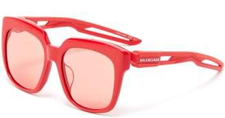 Balenciaga 'Hybrid' cutout temple acetate D-frame sunglasses