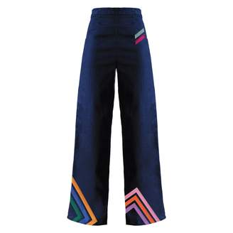 My Pair of Jeans - Liza Embroidered Wide-Legs Jeans