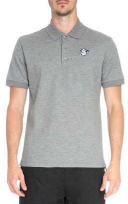Givenchy Rottweiler Patch Pique Polo Shirt, Dark Gray $420 thestylecure.com